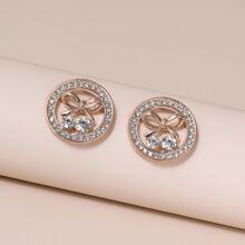 Bow Decor Stud Earrings