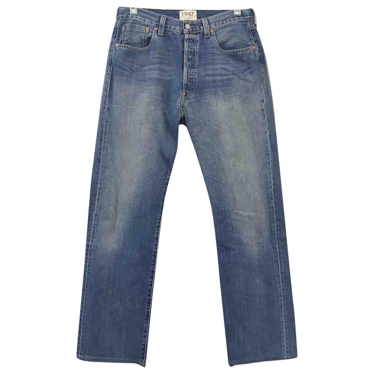 Levi's \N Blue Cotton Jeans for Men 42 - 44 FR