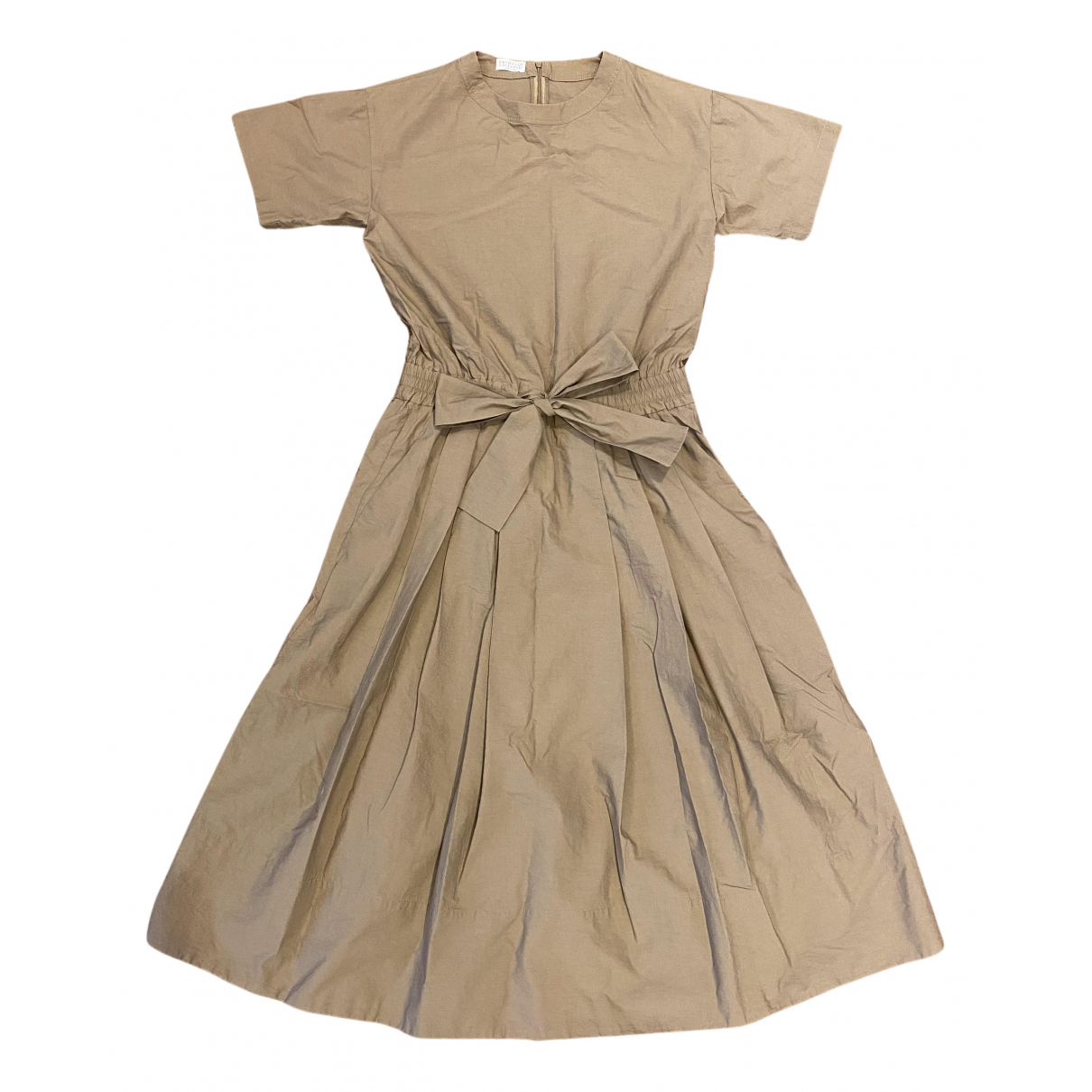 Brunello Cucinelli - Robe   pour femme en coton - marron