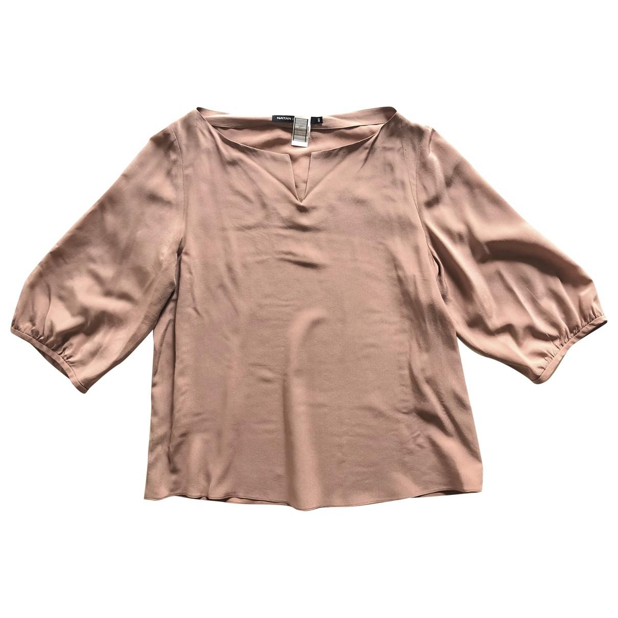 Natan - Top   pour femme en soie - rose