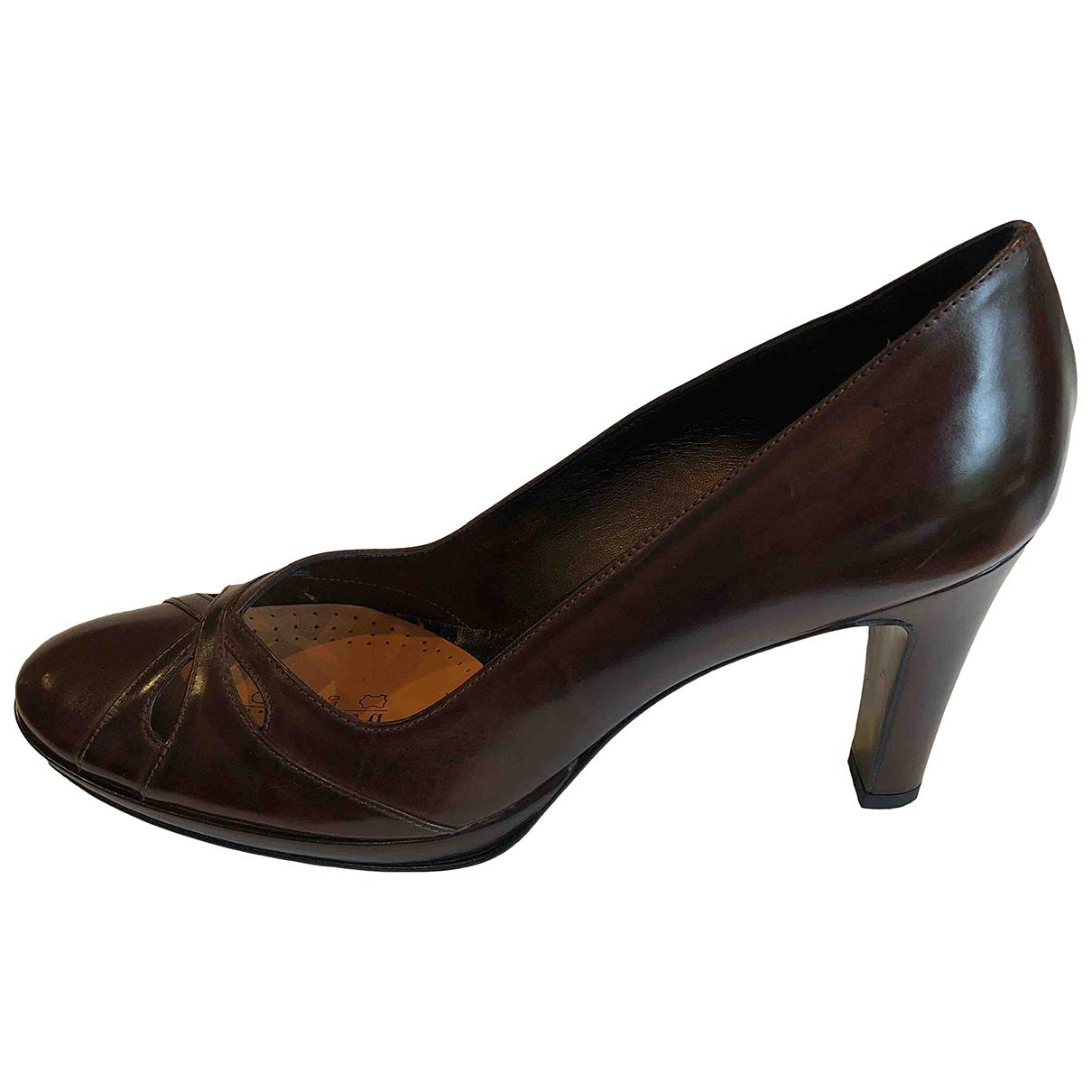 Autre Marque - Sandales   pour femme en cuir - marron