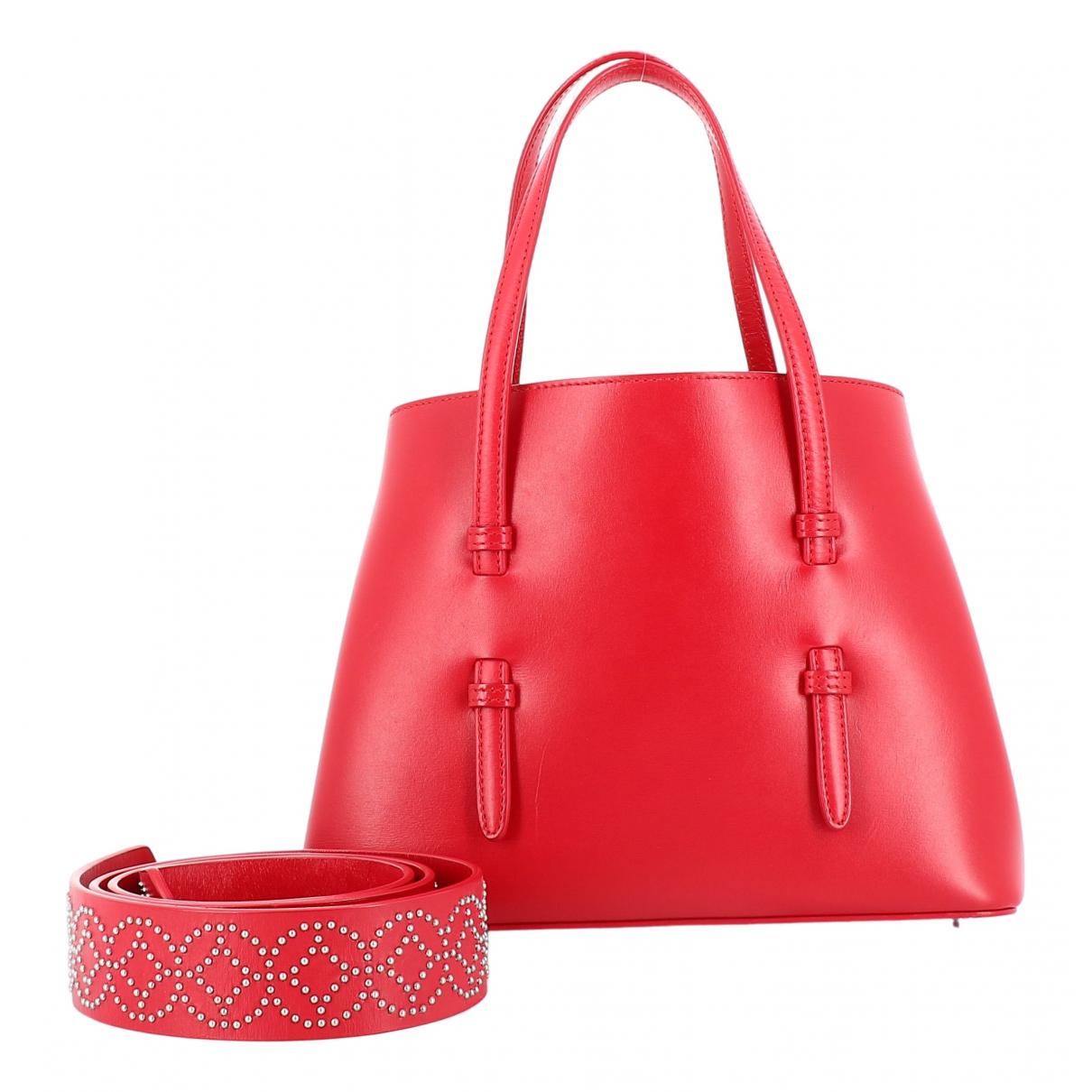 Alaia - Sac a main   pour femme en cuir - rouge