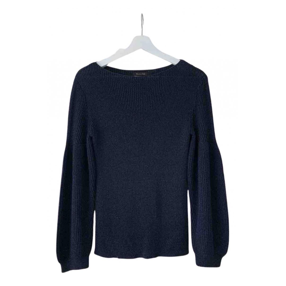 Massimo Dutti N Blue Cotton Knitwear for Women S International