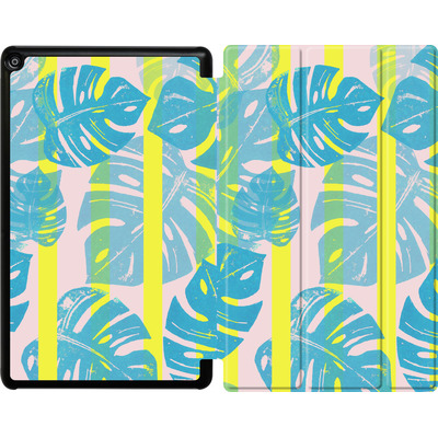 Amazon Fire HD 10 (2018) Tablet Smart Case - Linocut Monstera Neon von Bianca Green