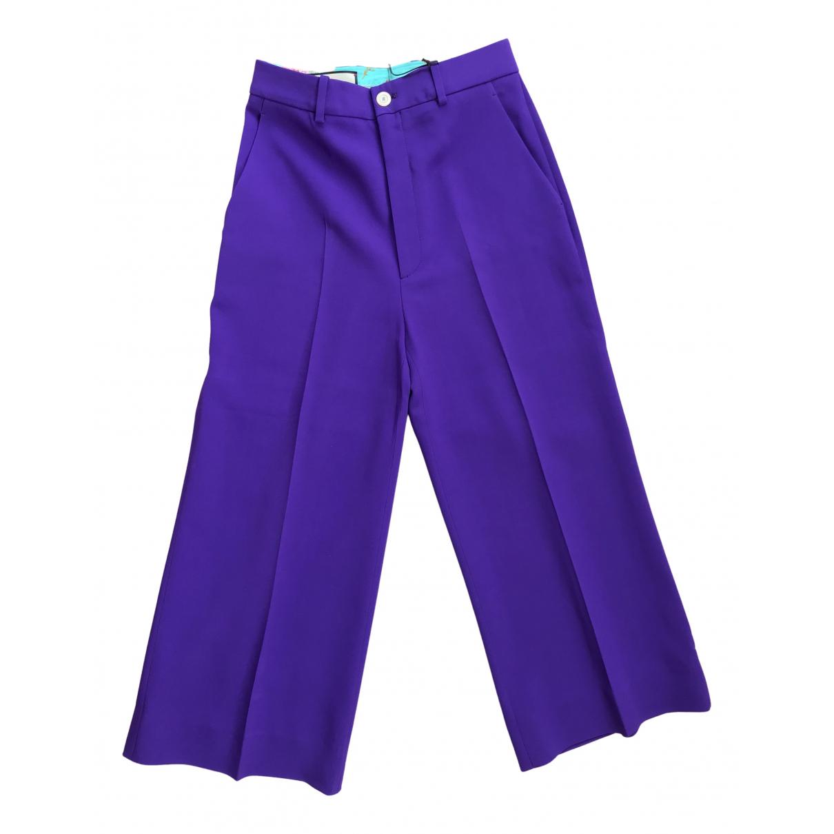 Pantalon en Viscosa Violeta Gucci