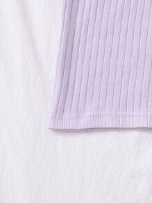 Plus Rib-knit Solid Bodycon Dress