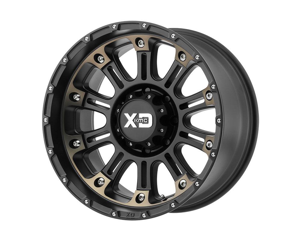 XD Series XD82922068918N XD829 Hoss II Wheel 22x10 6x6x139.7 -18mm Satin Black Machined Dark Tint