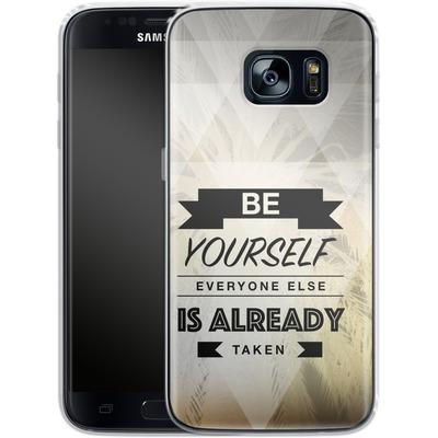 Samsung Galaxy S7 Silikon Handyhuelle - Be Yourself von Statements