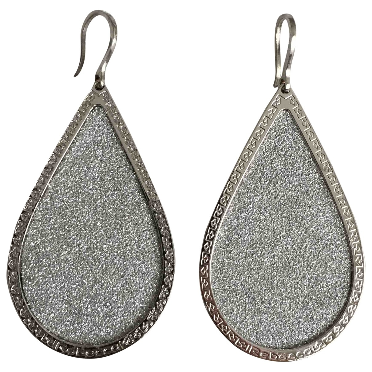 Rebecca \N Silver Steel Earrings for Women \N