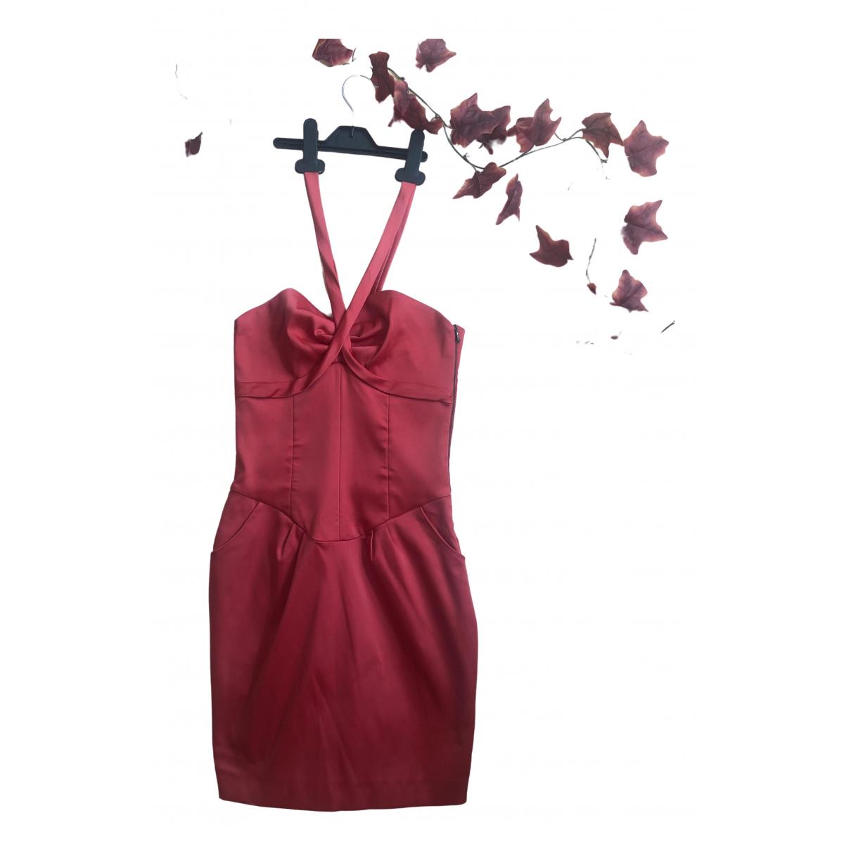 Mango \N Kleid in  Rot Baumwolle