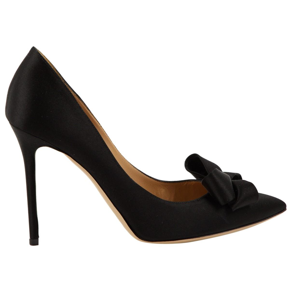 Valentino Garavani \N Black Cloth Heels for Women 39.5 EU
