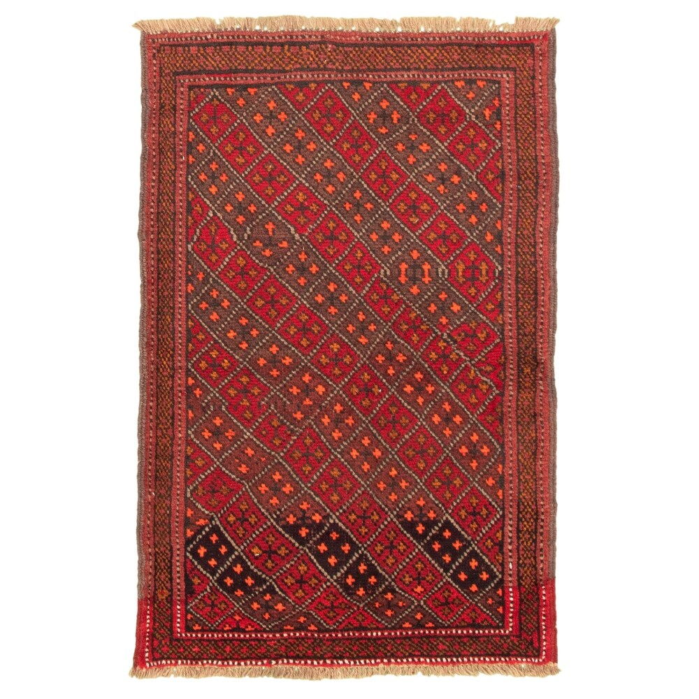 ECARPETGALLERY Hand-knotted Akhjah Red Wool Rug - 3'5 x 5'0 (Red - 3'5 x 5'0)