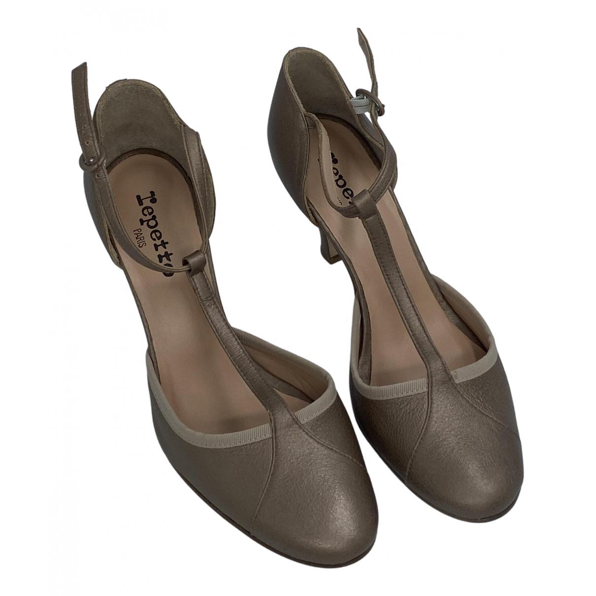 Sandalias de Cuero Repetto