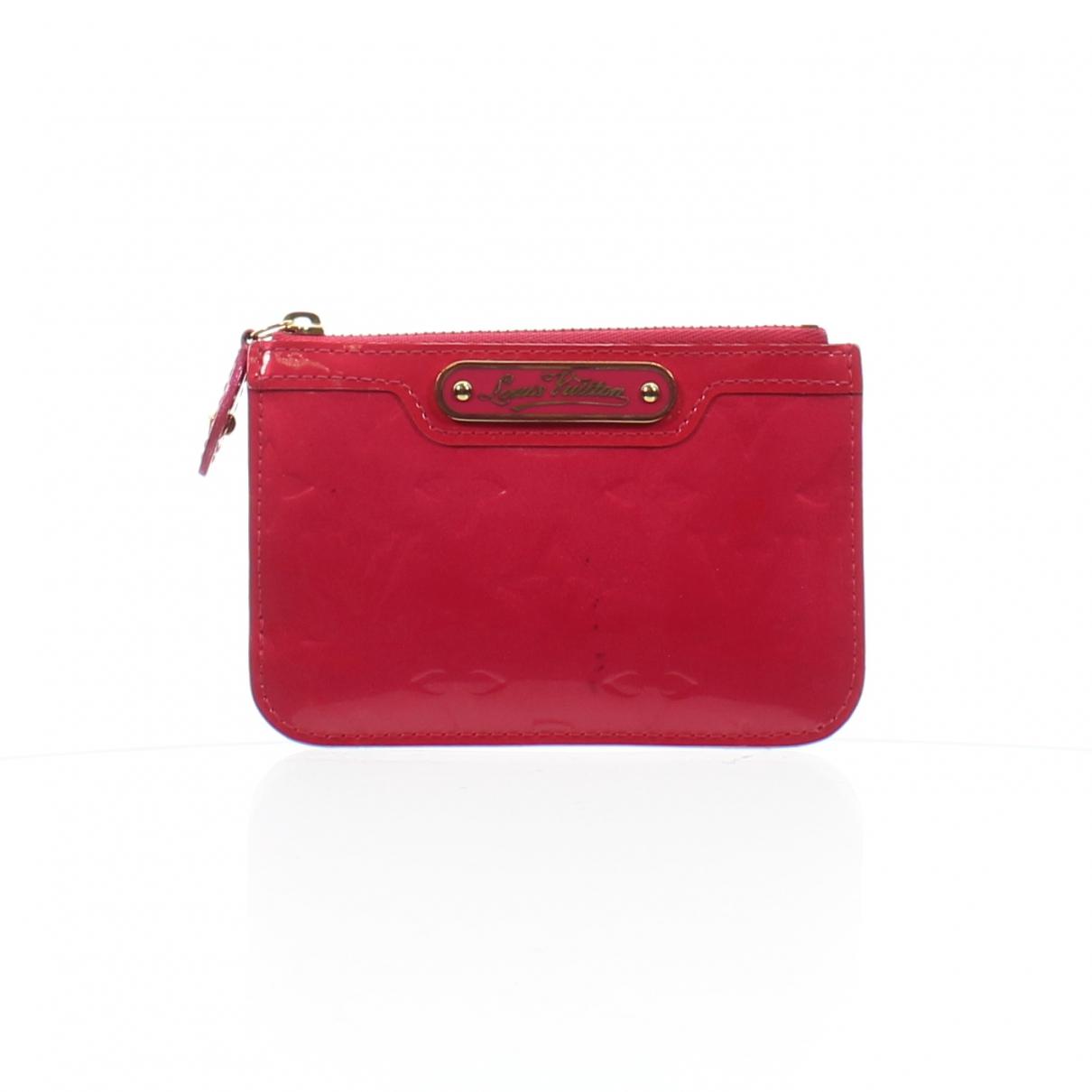 Louis Vuitton - Portefeuille   pour femme en cuir verni - rose