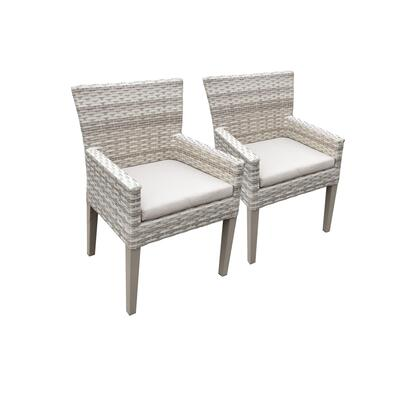 TKC245b-DC-C 2 Fairmont Dining Chairs With Arms with 1 Cover in