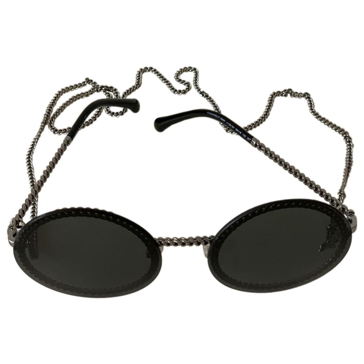 Chanel - Lunettes   pour femme en metal - noir