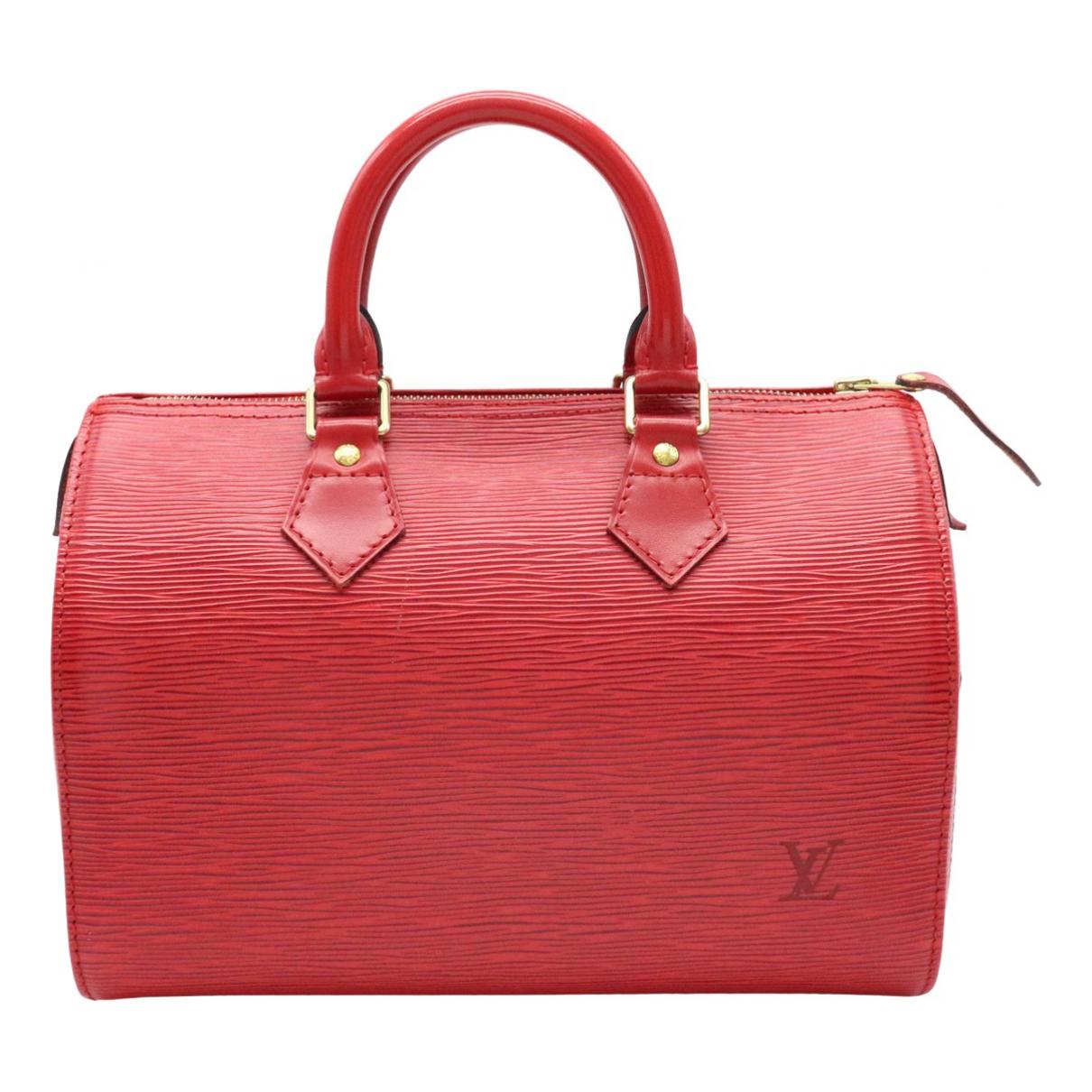 Louis Vuitton Speedy Red Leather handbag for Women N