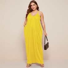 Maxi Cami Kleid mit Taschen