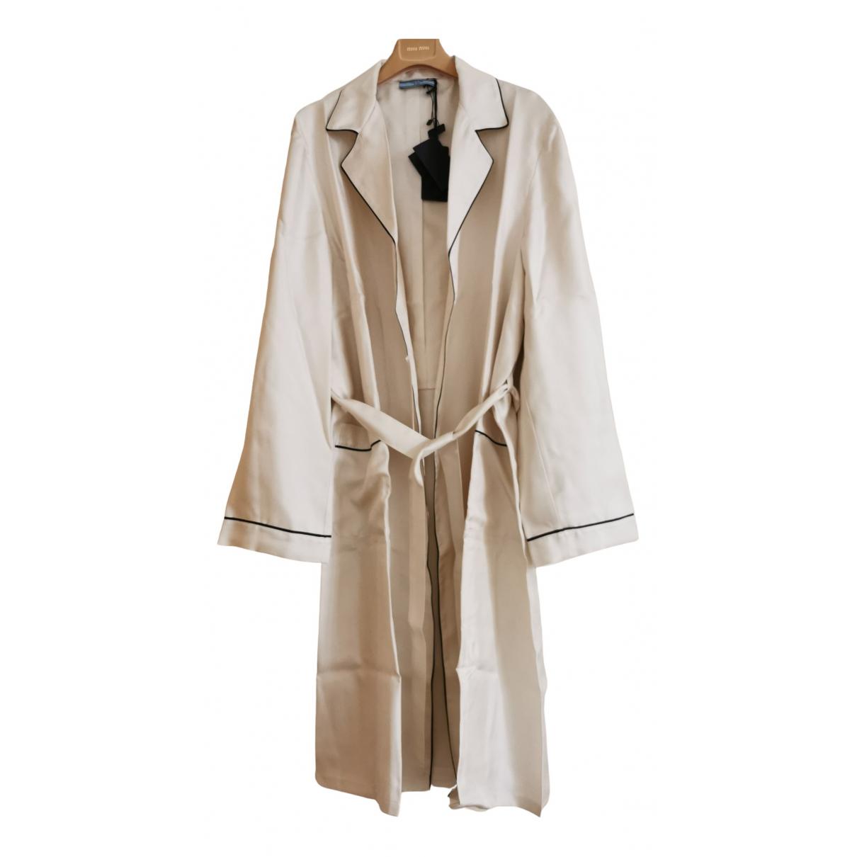 Prada \N Badeanzug in  Beige Baumwolle - Elasthan