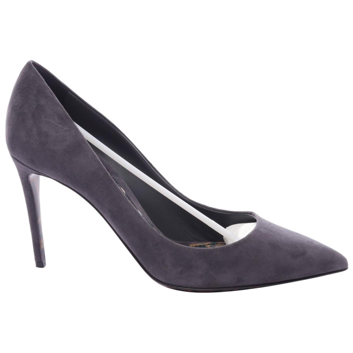 Dolce & Gabbana \N Grey Leather Heels for Women 41 EU