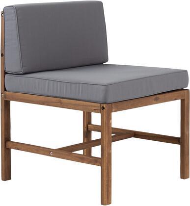 OWSANCHBR Modular Outdoor Acacia Armless Chair in