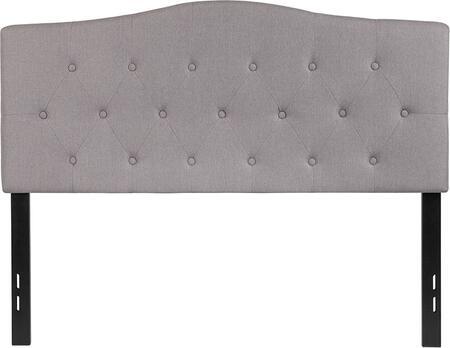 HG-HB1708-F-LG-GG Cambridge Tufted Upholstered Full Size Headboard in Light Gray