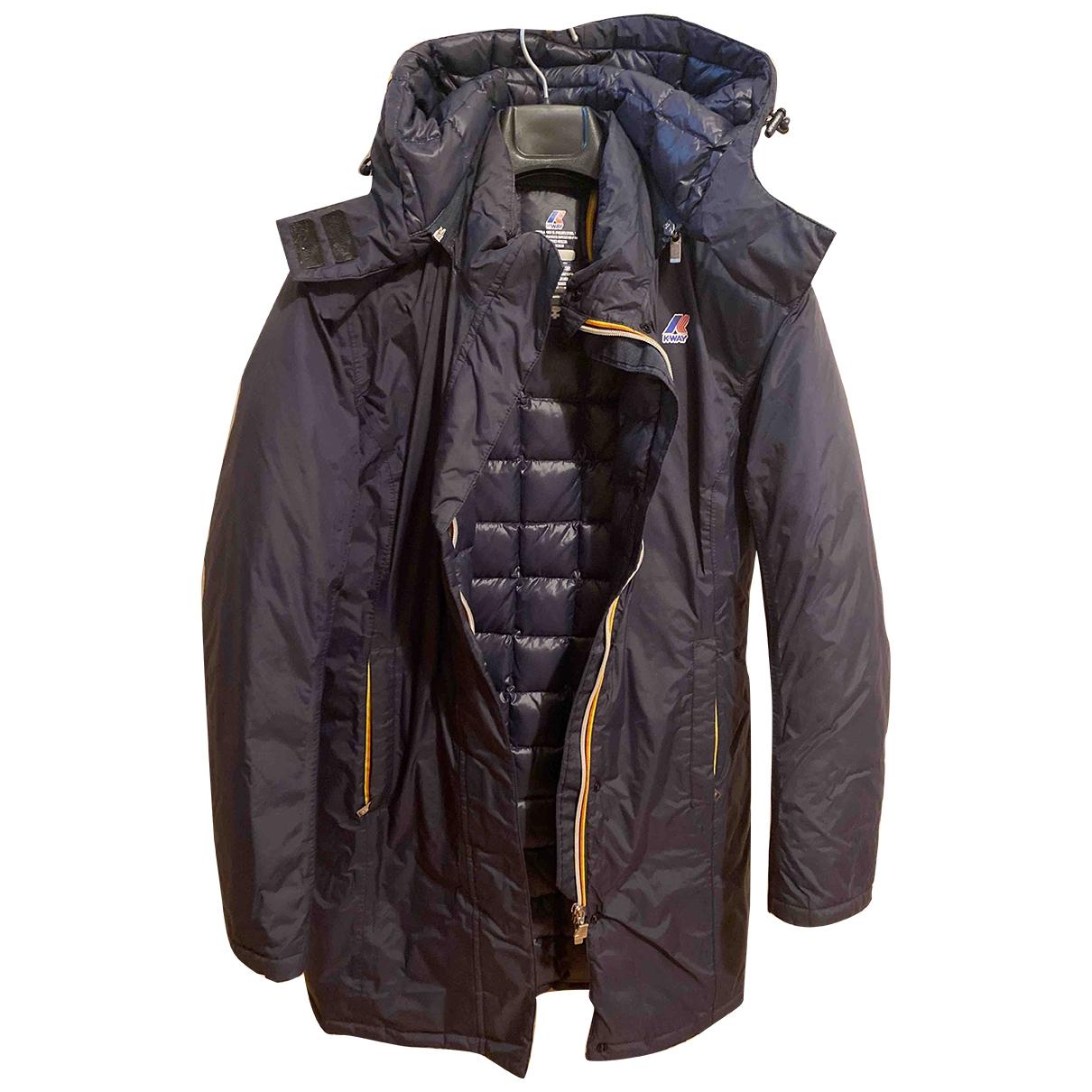 K-way - Manteau   pour femme en laine - bleu