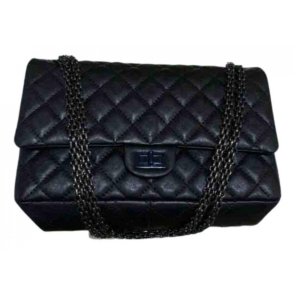 Chanel - Sac a main 2.55 pour femme en cuir - noir