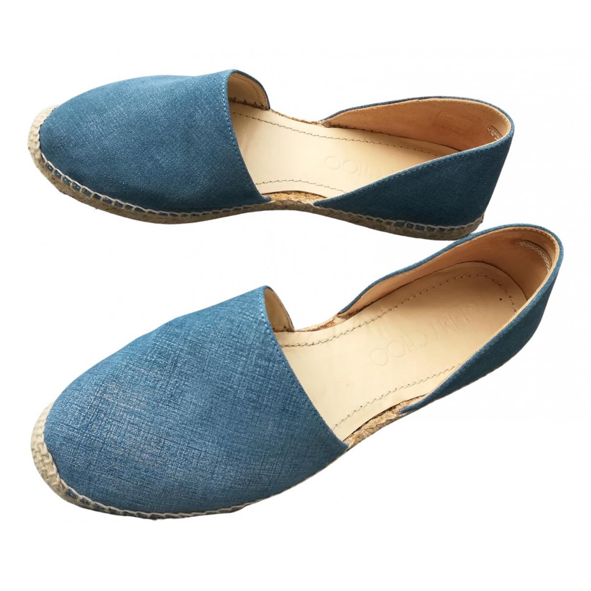 Jimmy Choo \N Espadrilles in  Blau Denim - Jeans