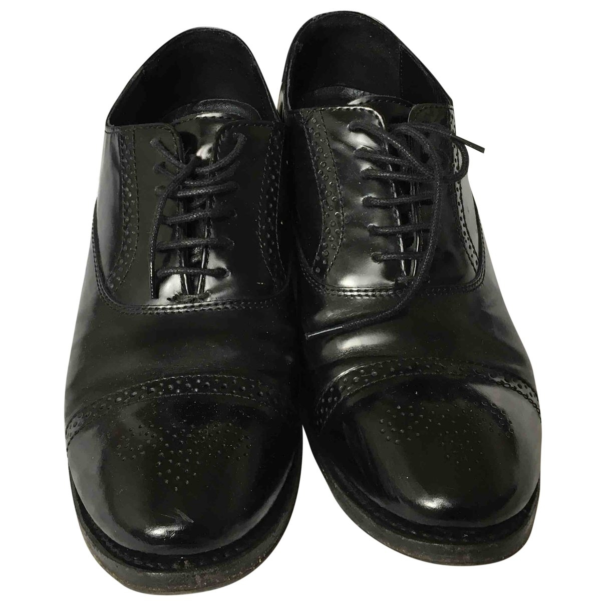 Ash \N Black Patent leather Lace ups for Women 38 EU