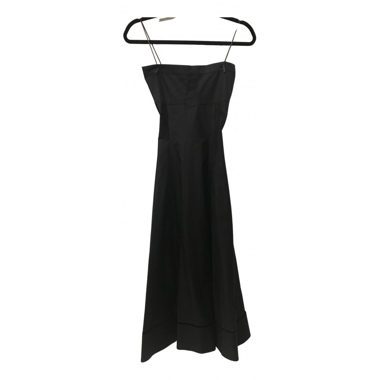 Khaite \N Kleid in  Schwarz Baumwolle