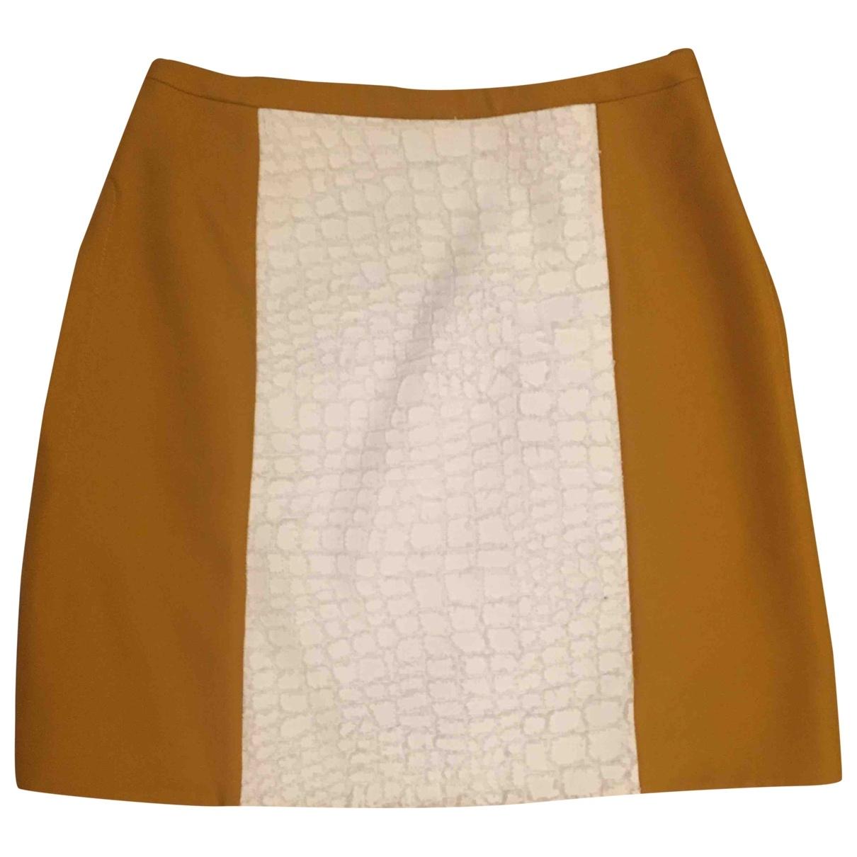Carven - Jupe   pour femme en coton - camel