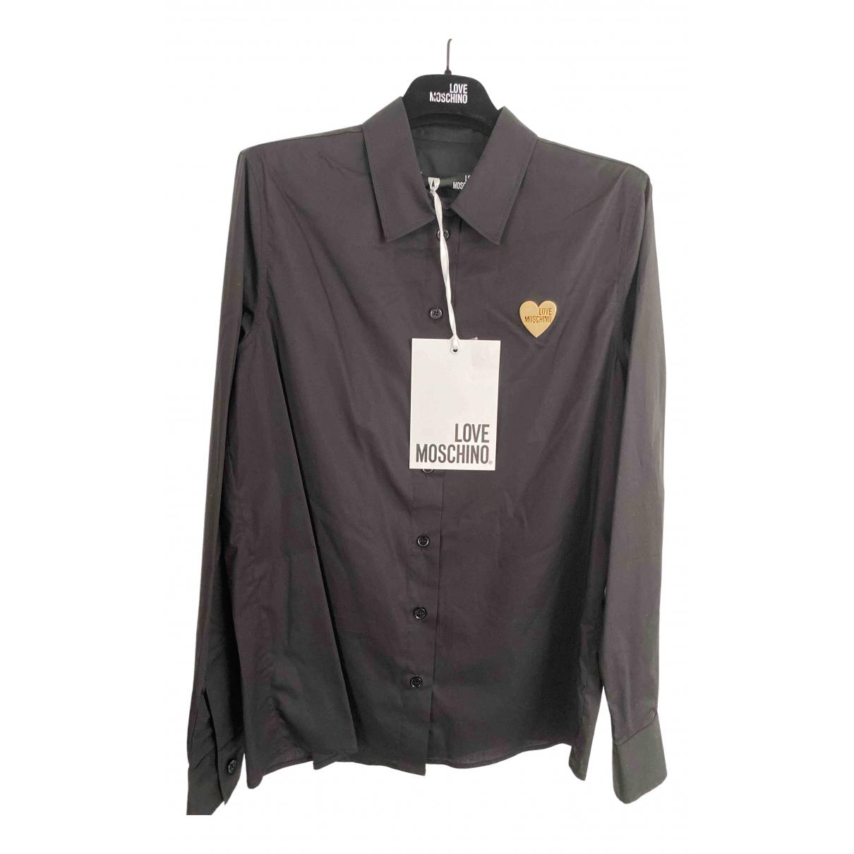 Moschino Love - Top   pour femme en coton - noir