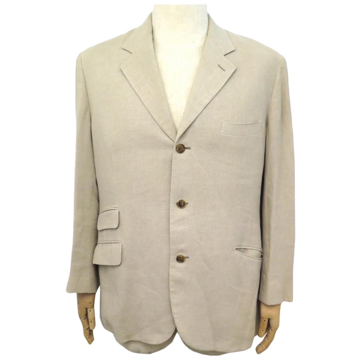 Hermes - Veste   pour femme en lin - beige