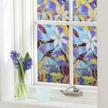 1 Blatt Vintage Fensteraufkleber mit Blumen Muster