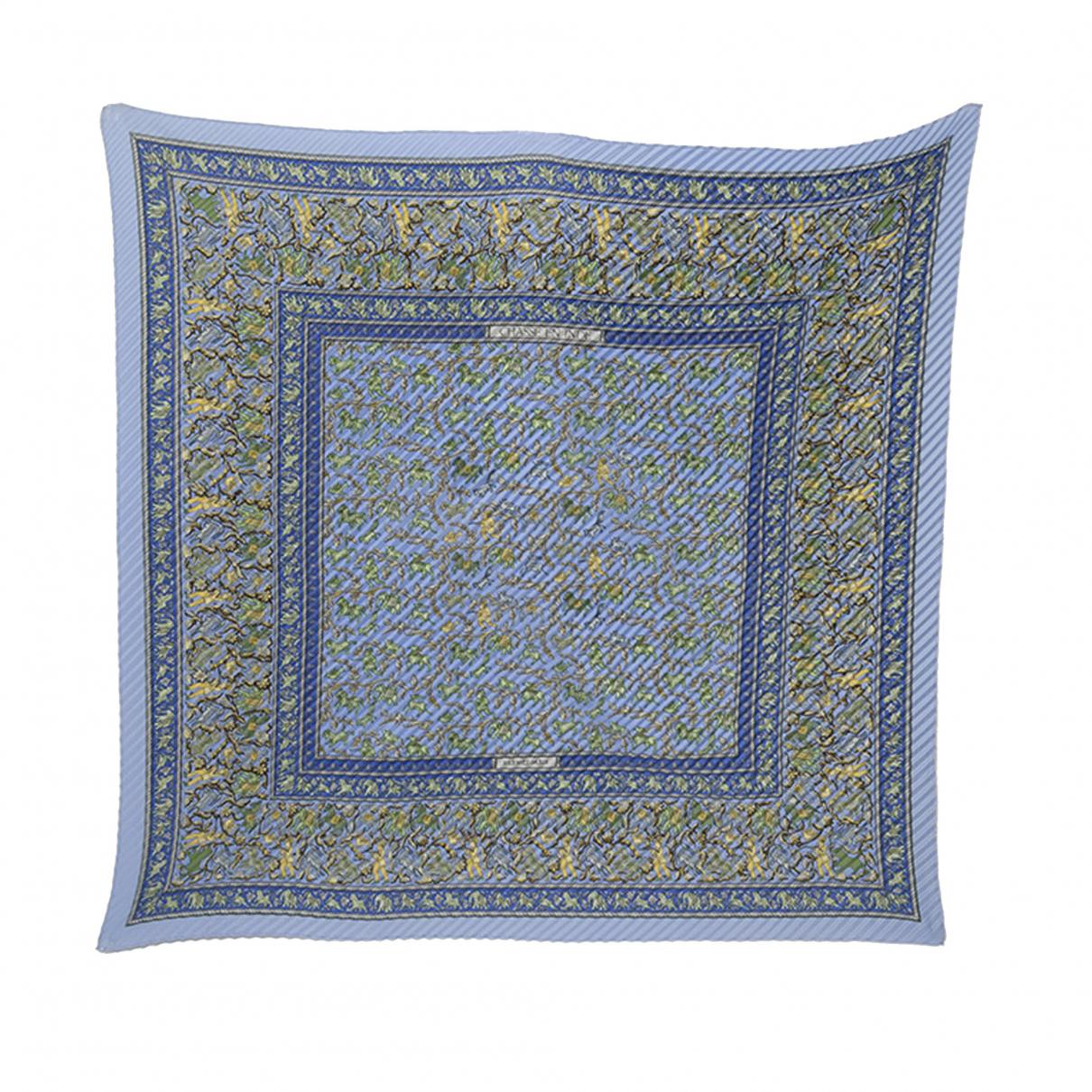 Hermès \N Blue scarf for Women \N