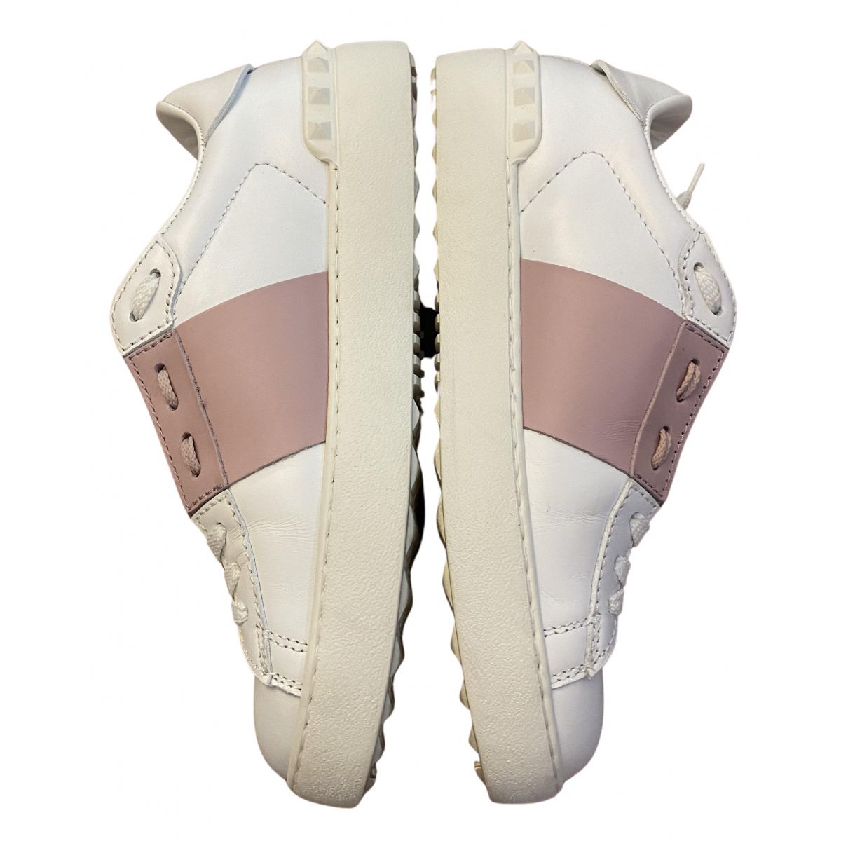 Valentino Garavani Rockstud White Leather Trainers for Women 37 EU