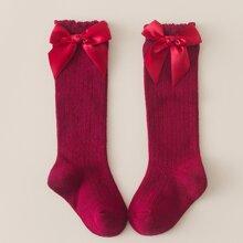 Kleinkind Maedchen Socken mit Schleife Dekor