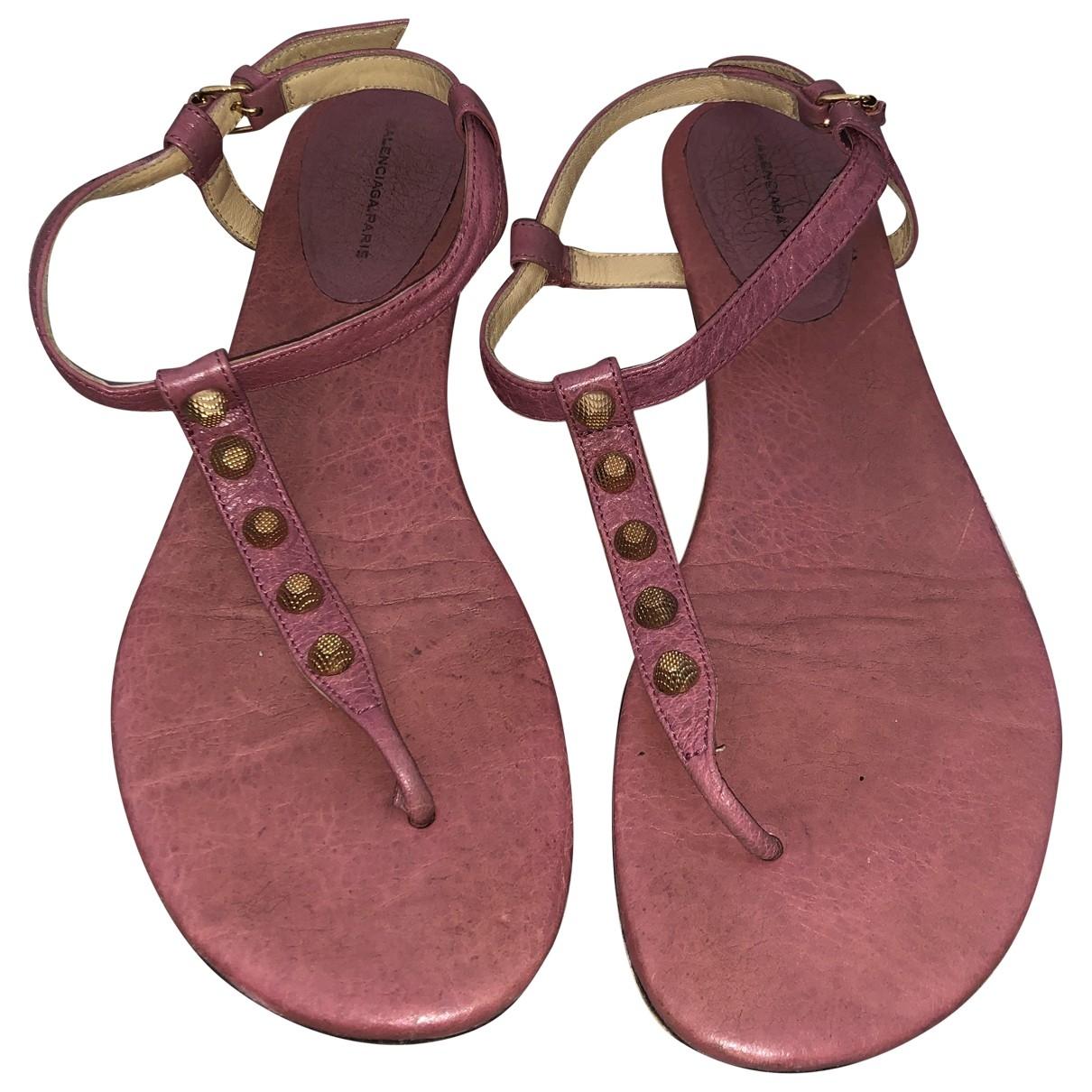 Balenciaga \N Pink Leather Sandals for Women 40 EU