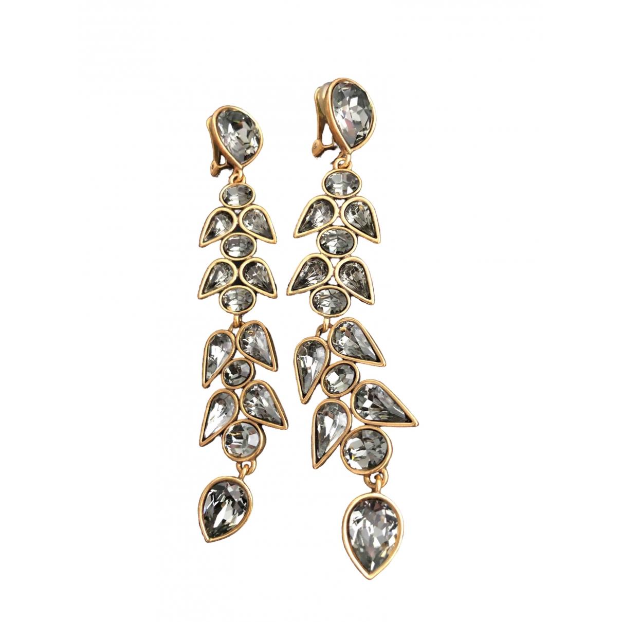 Oscar De La Renta \N Grey Metal Earrings for Women \N