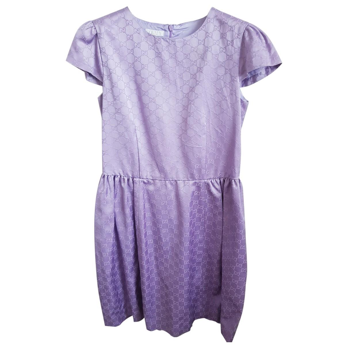 Gucci \N Purple Silk dress for Kids 12 years - XS FR