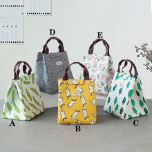 1pc Cartoon Graphic Lunch Bag