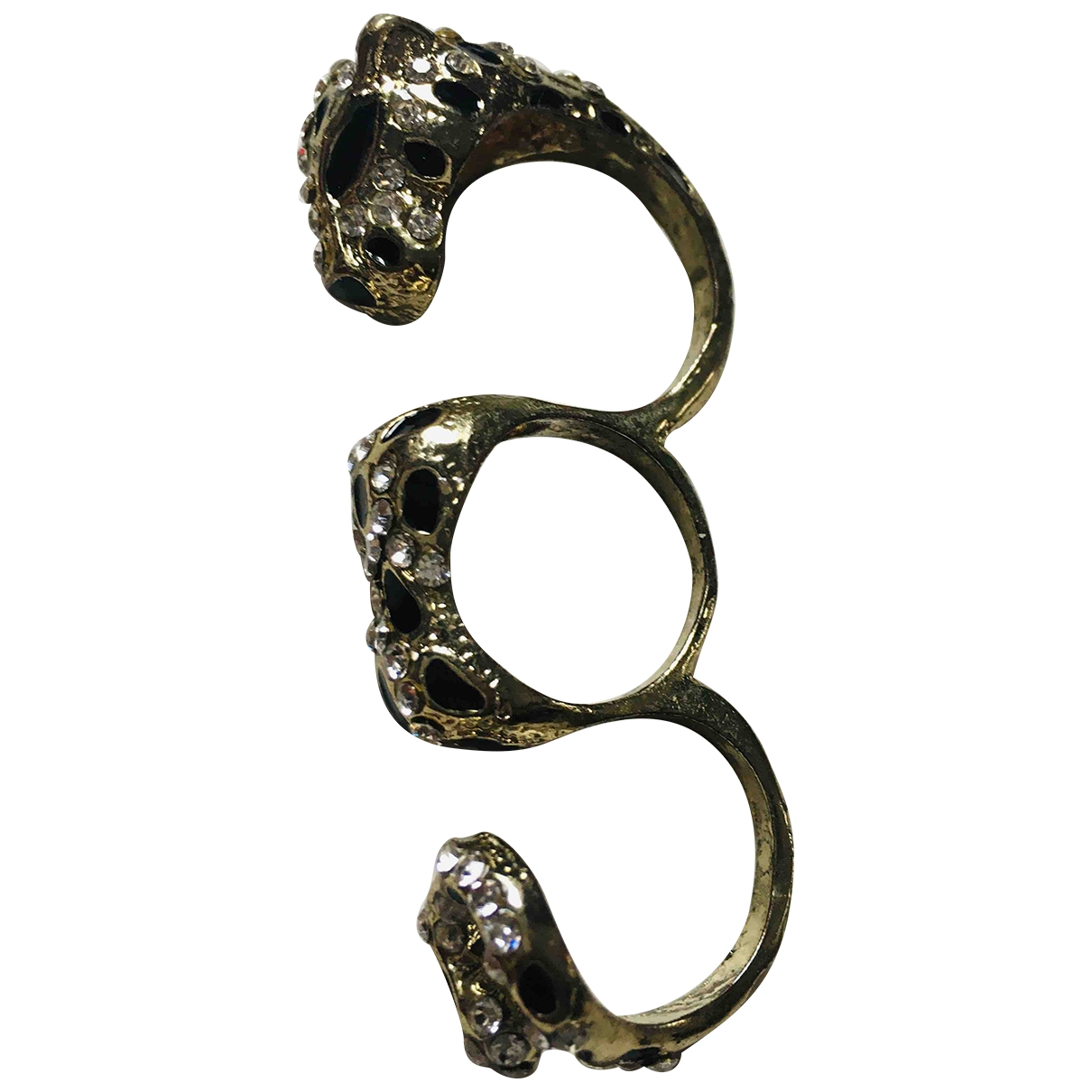 Non Signe / Unsigned Motifs Animaliers Ring in  Bunt Metall