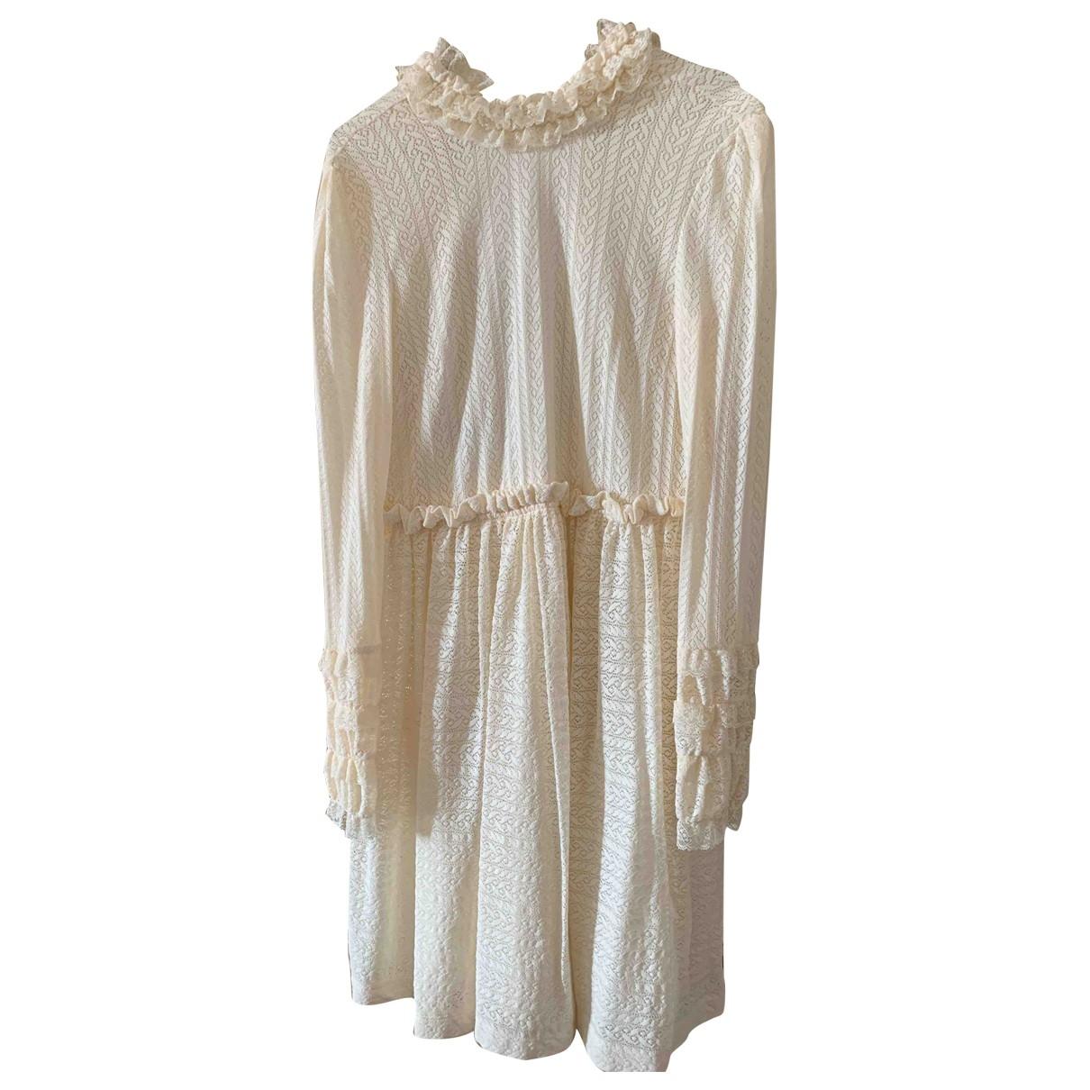 Philosophy Di Lorenzo Serafini \N Kleid in  Beige Baumwolle