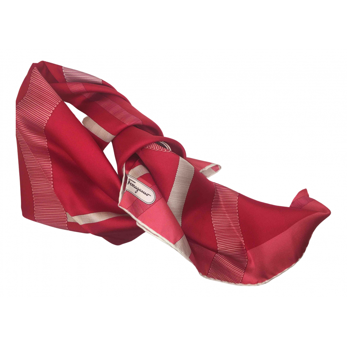Salvatore Ferragamo \N Red Silk scarf for Women \N