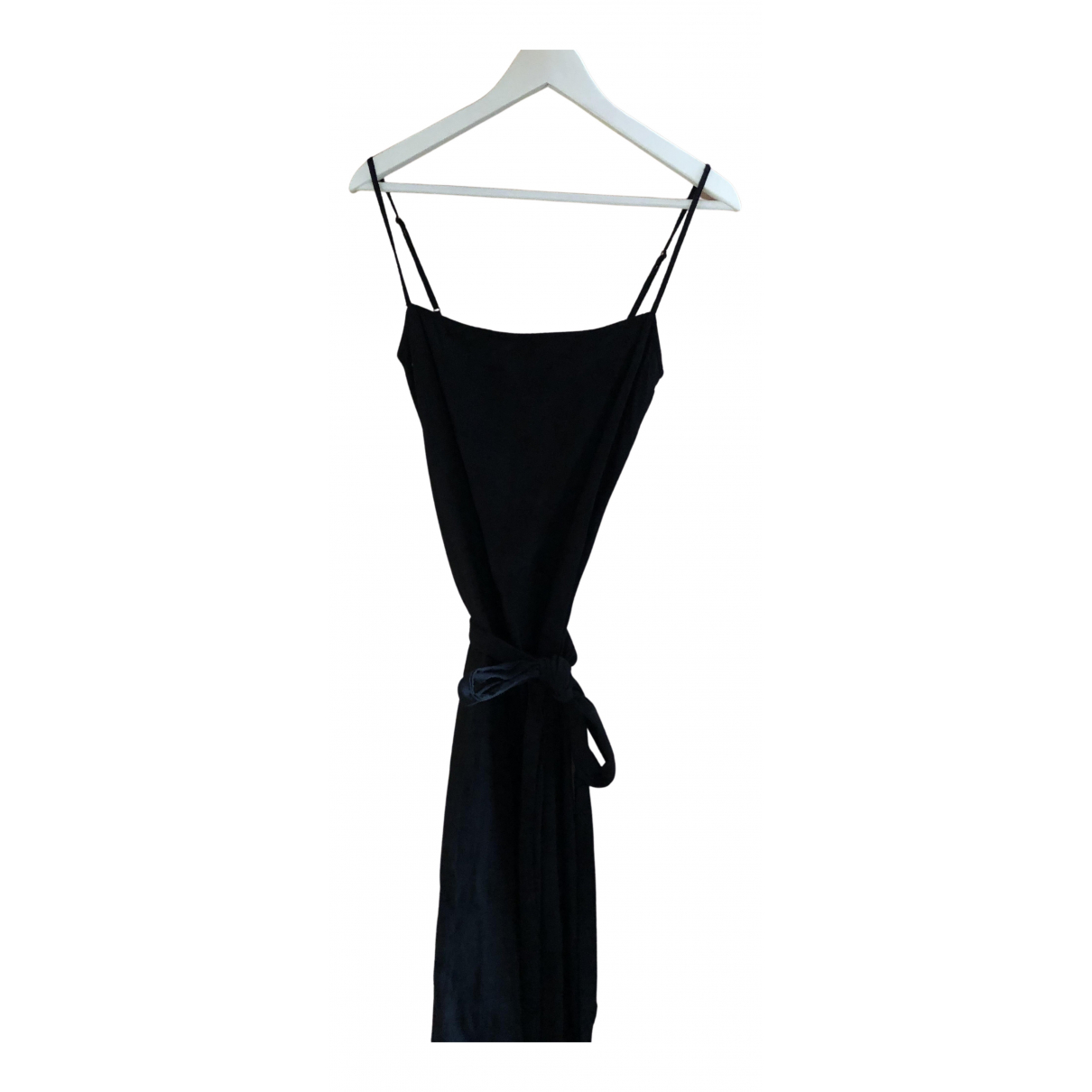 Reformation - Robe   pour femme en lin - noir