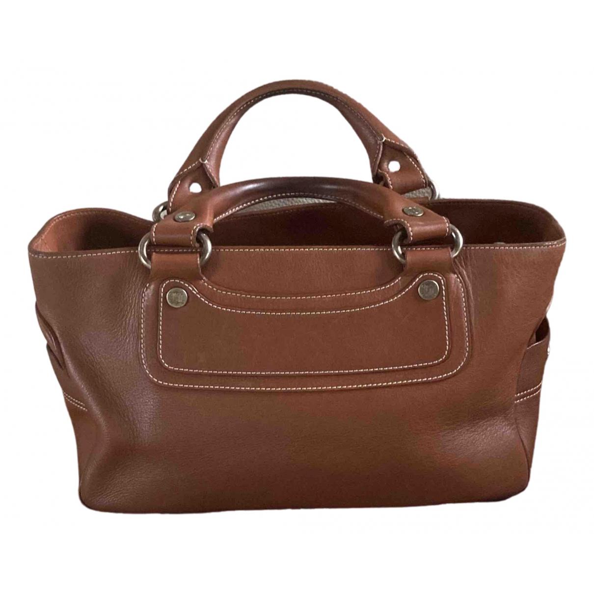 Celine Boogie Brown Leather handbag for Women N