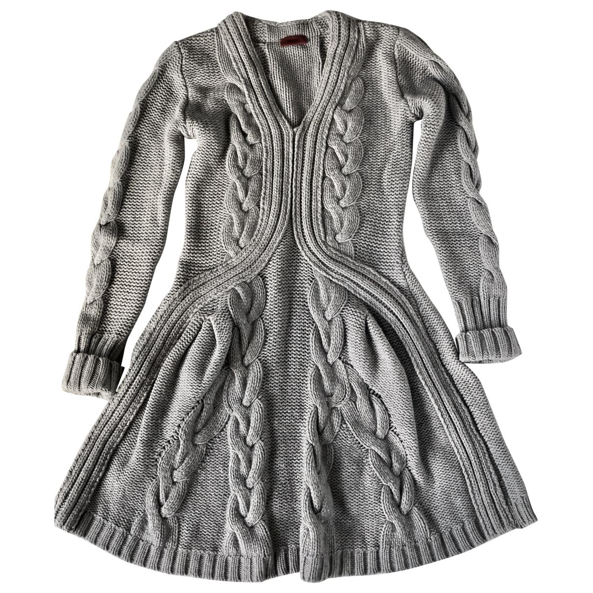 Hugo Boss \N Kleid in  Grau Wolle