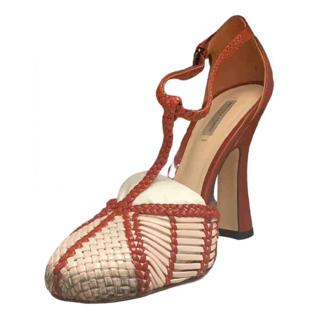 Bottega Veneta \N Red Leather Heels for Women 37 EU