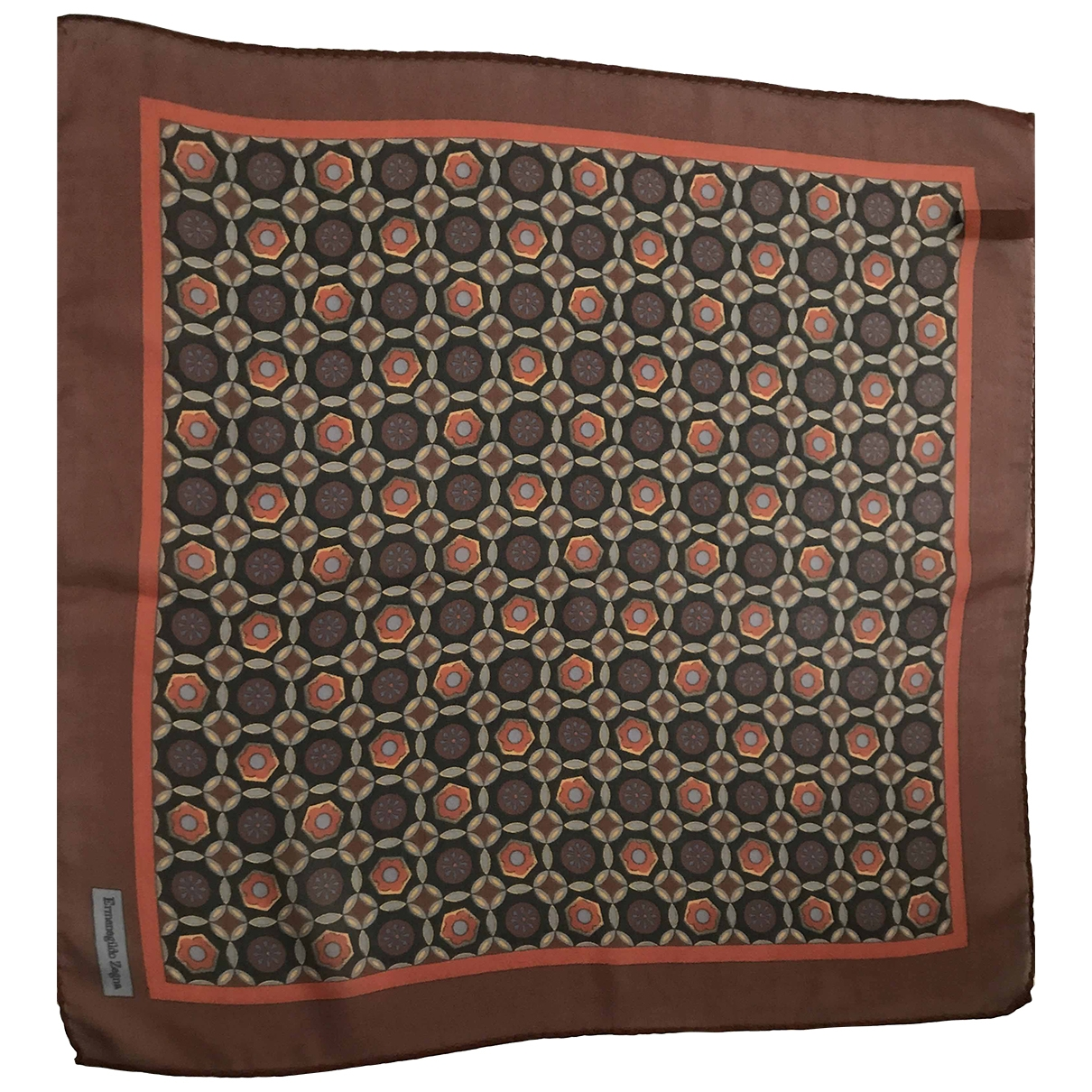 Ermenegildo Zegna \N Brown Silk scarf & pocket squares for Men \N